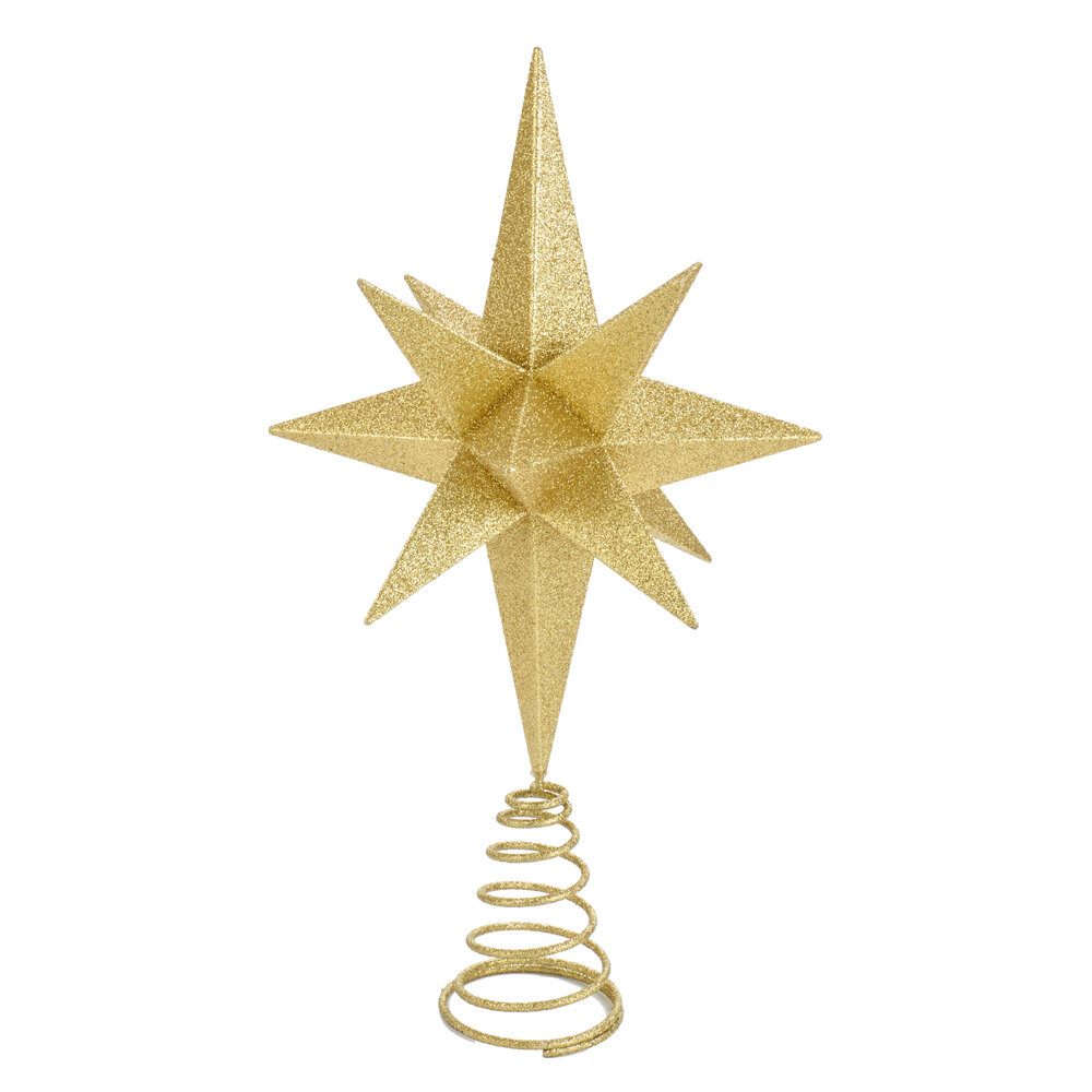 Moravian Glitter Star Tree Topper Reviews Joss Main