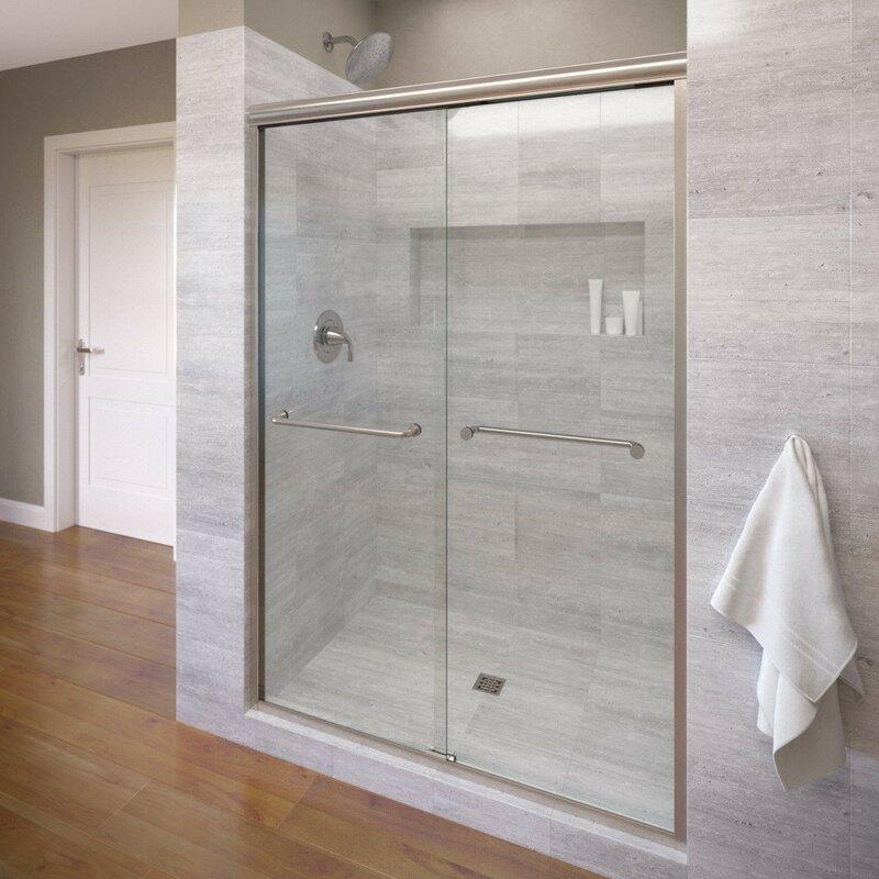 Infinity 59 X 70 Frameless Byp Sliding Shower Door