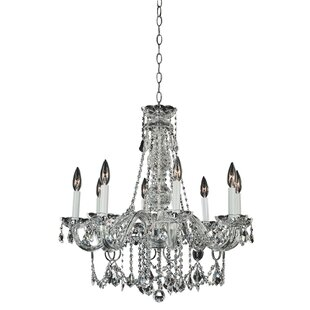 Candle Style Palace 8-Light Candle Style Chandelier by Glow Lighting
