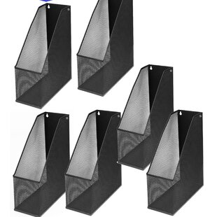Rebrilliant Farrell Mesh Steel Magazine Extra Wide Wall Mount Hanging Desktop Letter File Holder (Set of 6)