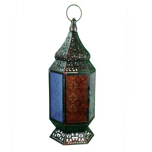 Metal and Glass Lantern by Bloomsbury Market