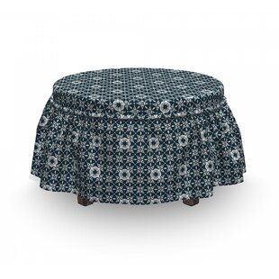 Azulejo Mosaic Tile Ottoman Slipcover (Set Of 2) By East Urban Home