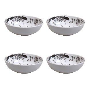 Montoya 28 oz. Flower Cereal Bowl (Set of 4)