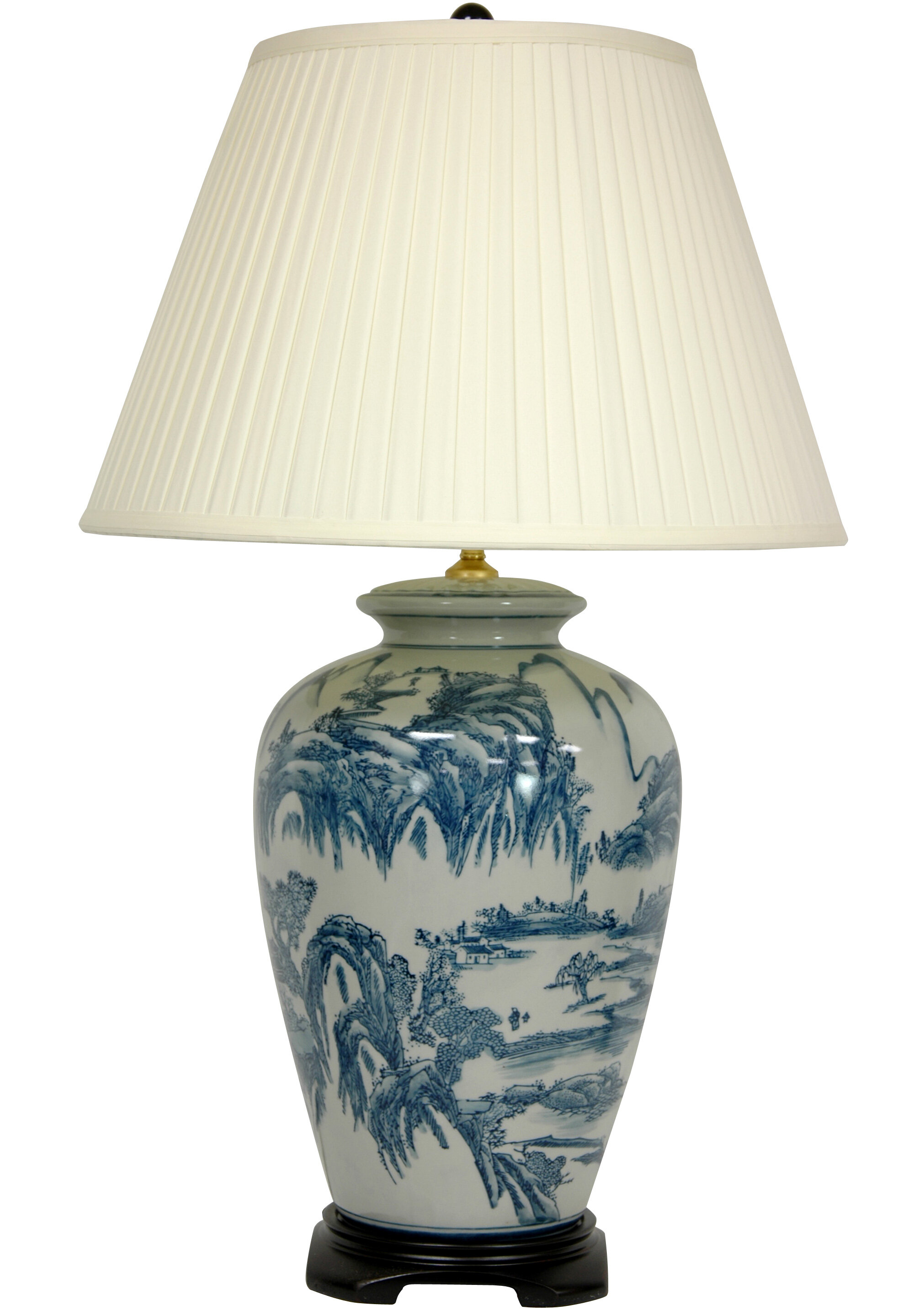 Oriental furniture chinese landscape oriental 29 table lamp oriental furniture chinese landscape oriental 29 table lamp reviews wayfair mozeypictures Choice Image