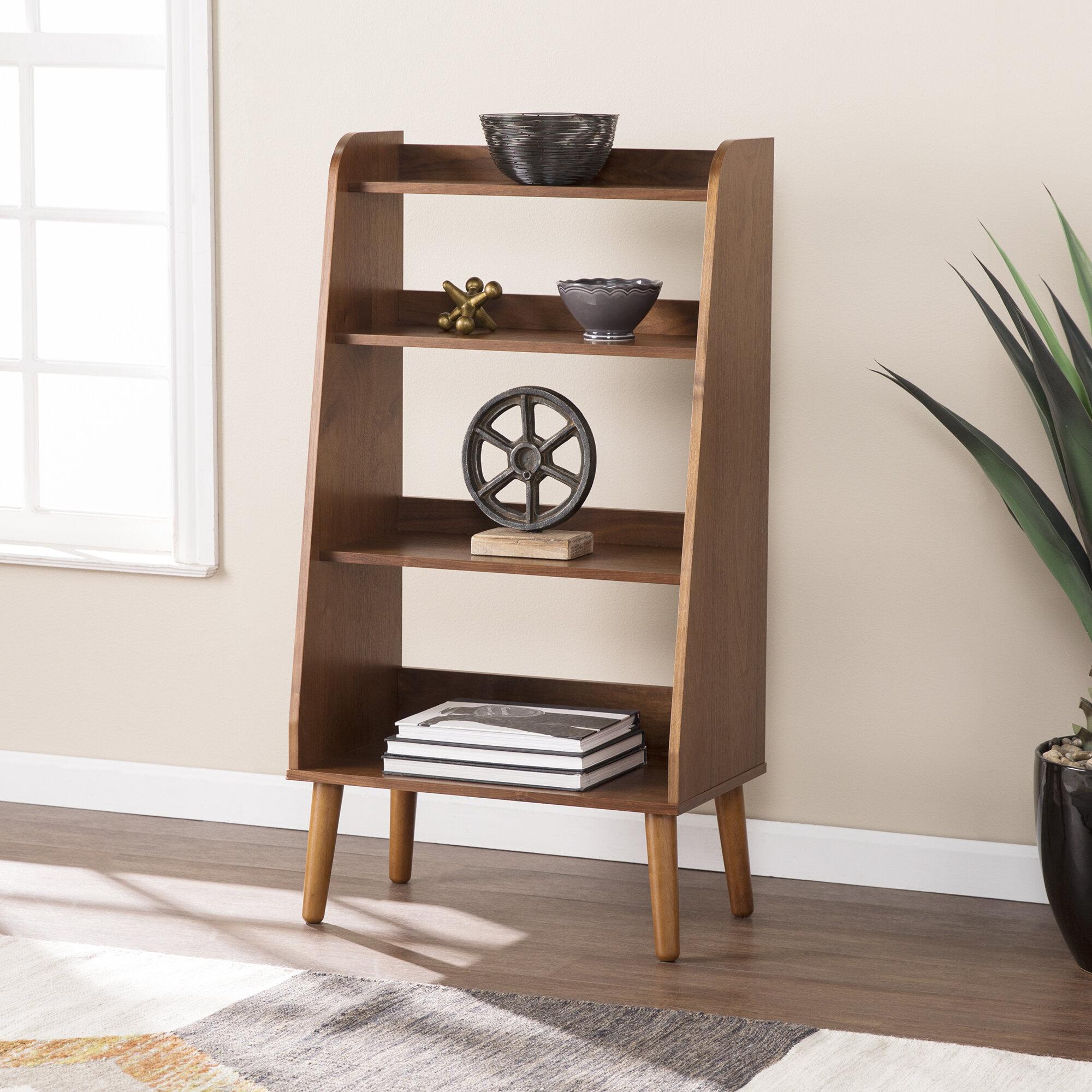 Image of: Corrigan Studio Bracken Midcentury Modern Ladder Bookcase Reviews Wayfair