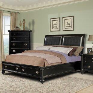 Klaussner Furniture Brandy Upholstered Storage Platform Bed