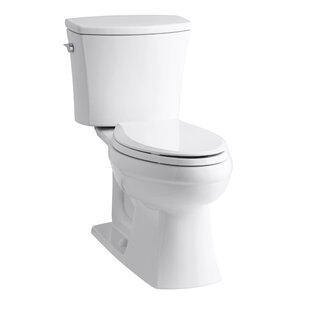Kohler Kelston Comfort Height Two-Piece Elongated 1.28 GPF Toilet with Aquapiston Flush Technology and Left-Hand Trip Lever