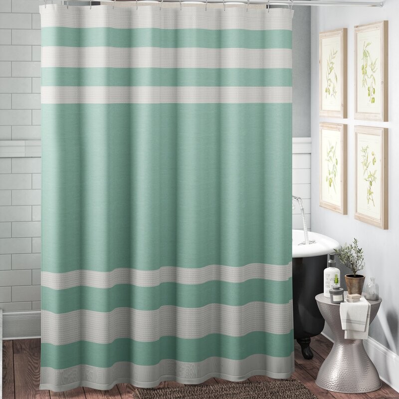 The Twillery Co Merrick Striped Single Shower Curtain Reviews Wayfair