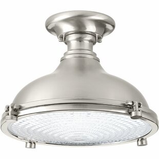 Javi 1-Light LED Semi Flush Mount by Longshore Tides