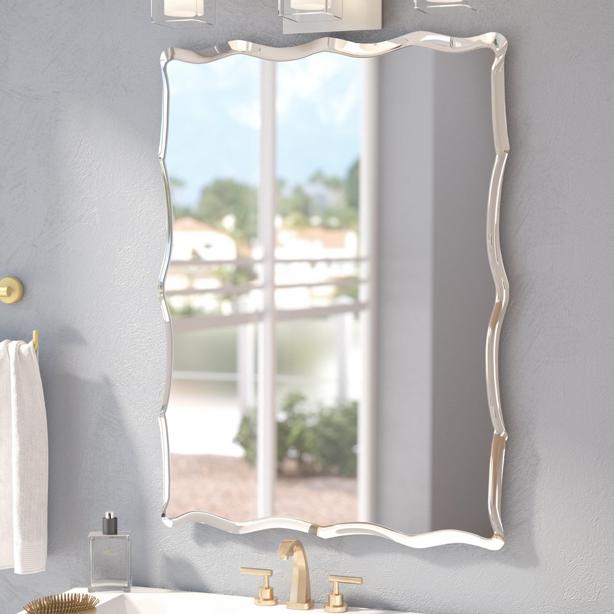 wade logan redcliffe frameless wall mirror reviews wayfair
