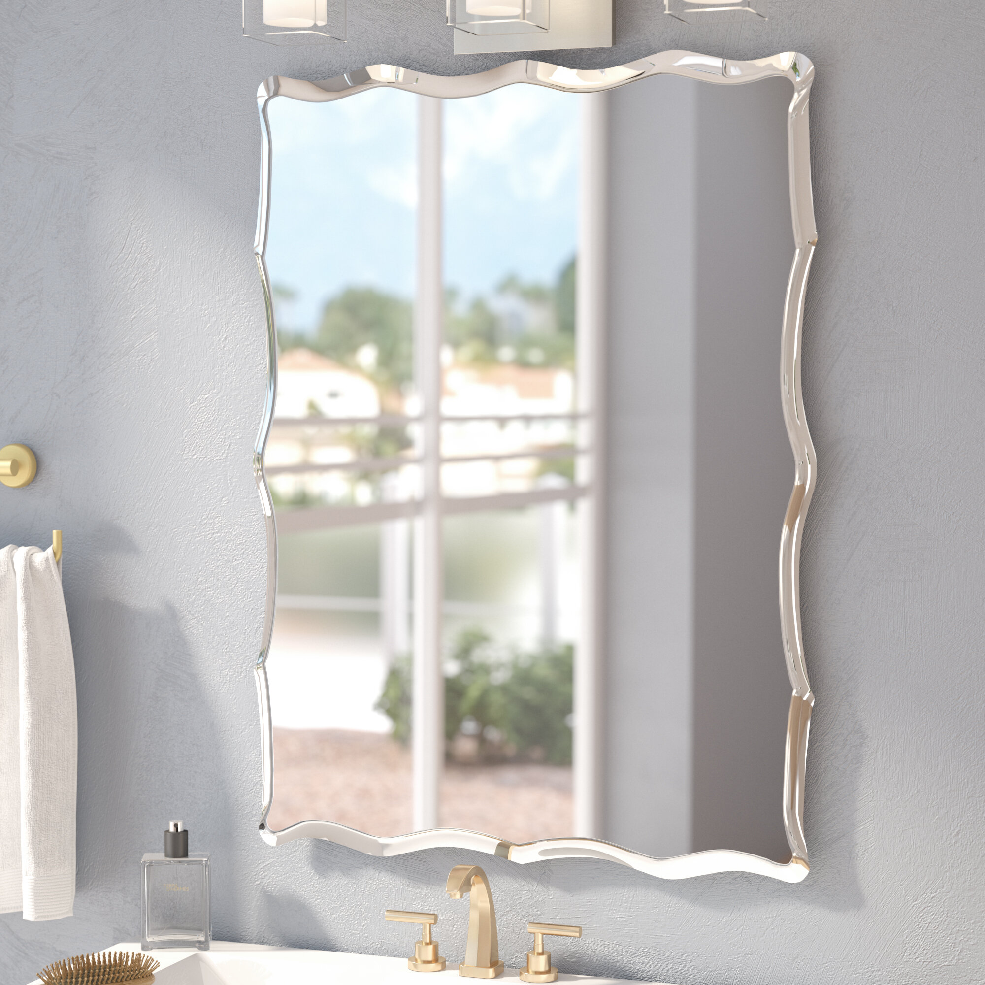 Wade Logan Estefania Frameless Wall Mirror Reviews Wayfair
