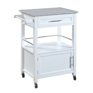 Fraizer Kitchen Cart with Granite Top by Andover Mills