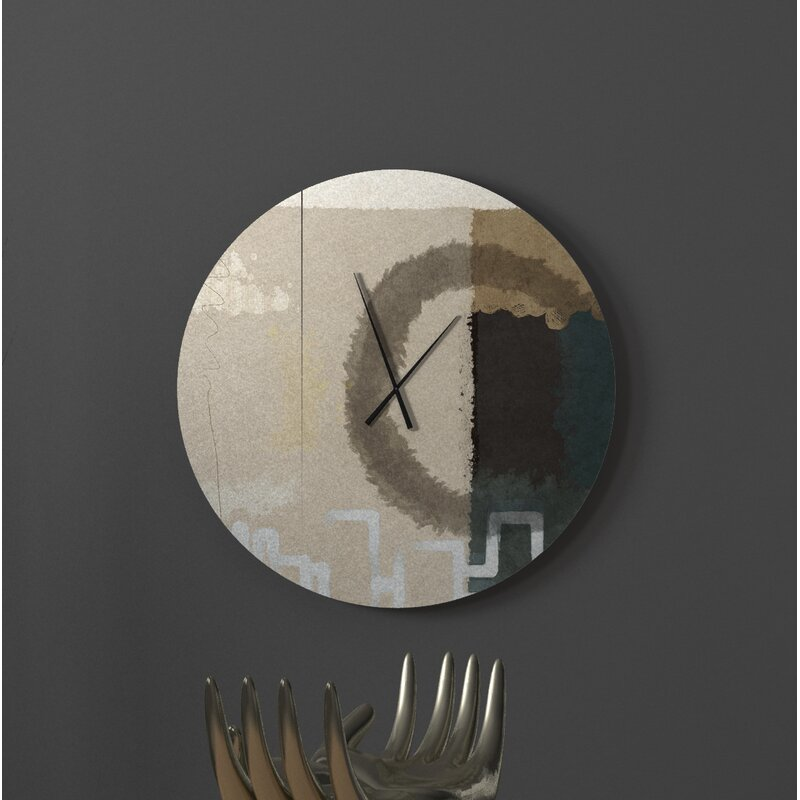 Latitude Run Disciplined Triumphant Abstract Metal Wall Clock Wayfair Ca