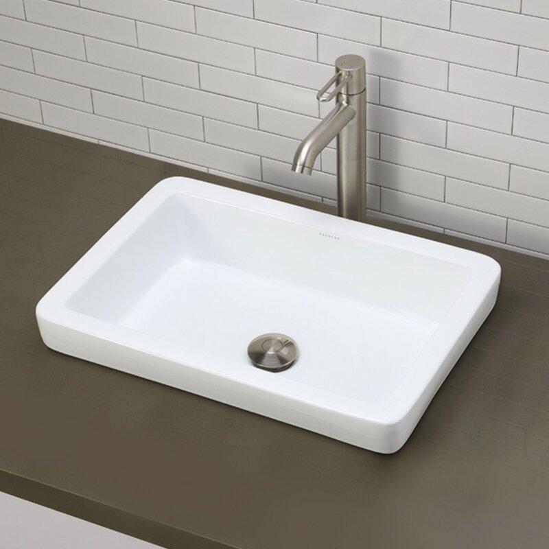 Wonderful Classically Redefined Ceramic Rectangular Vessel Bathroom Sink