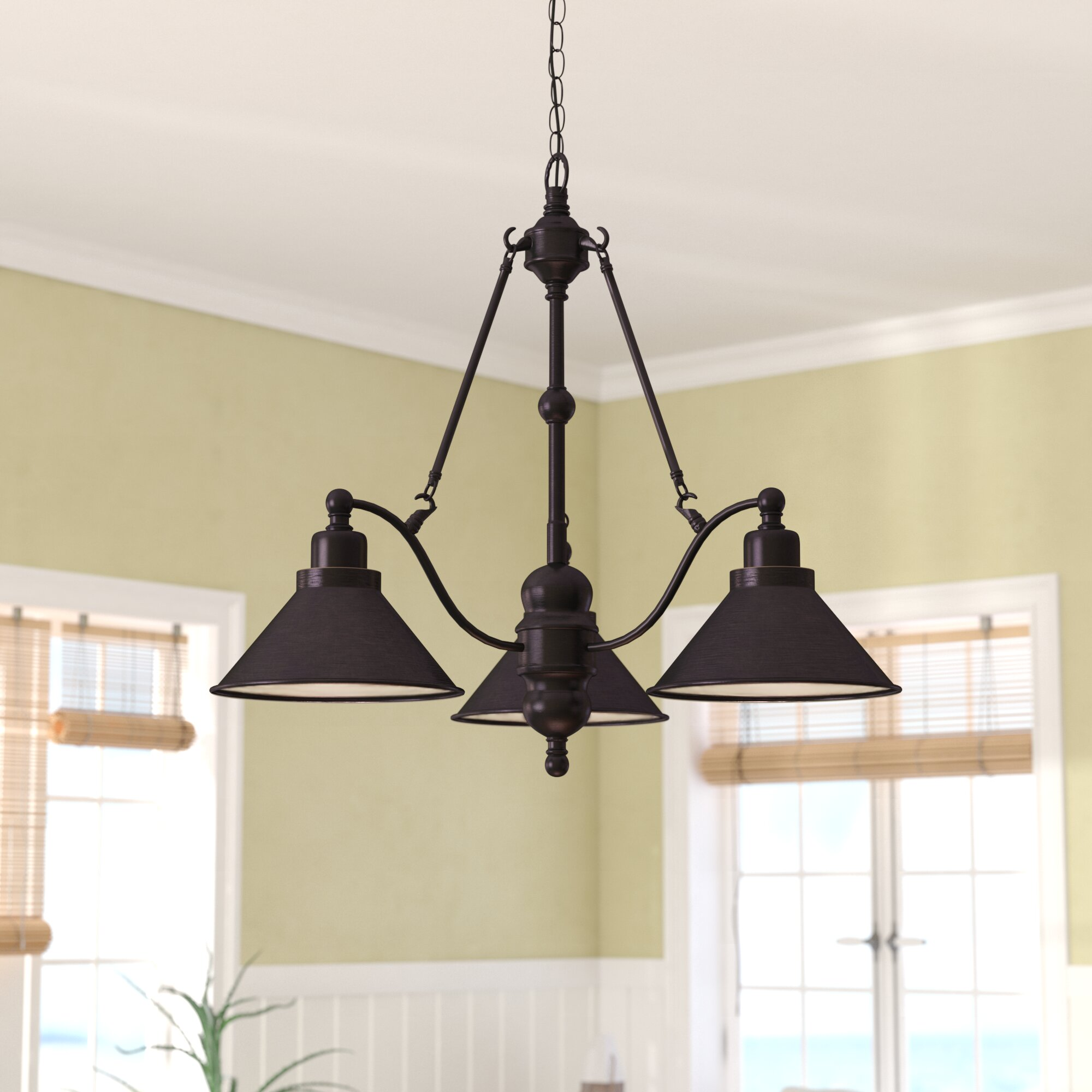 Trent austin design losada 3 light shaded chandelier reviews wayfair