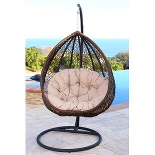 Ghazali Swing Chair with Stand  sc 1 st  Wayfair & Rattan Wicker Pod Swing Chair | Wayfair