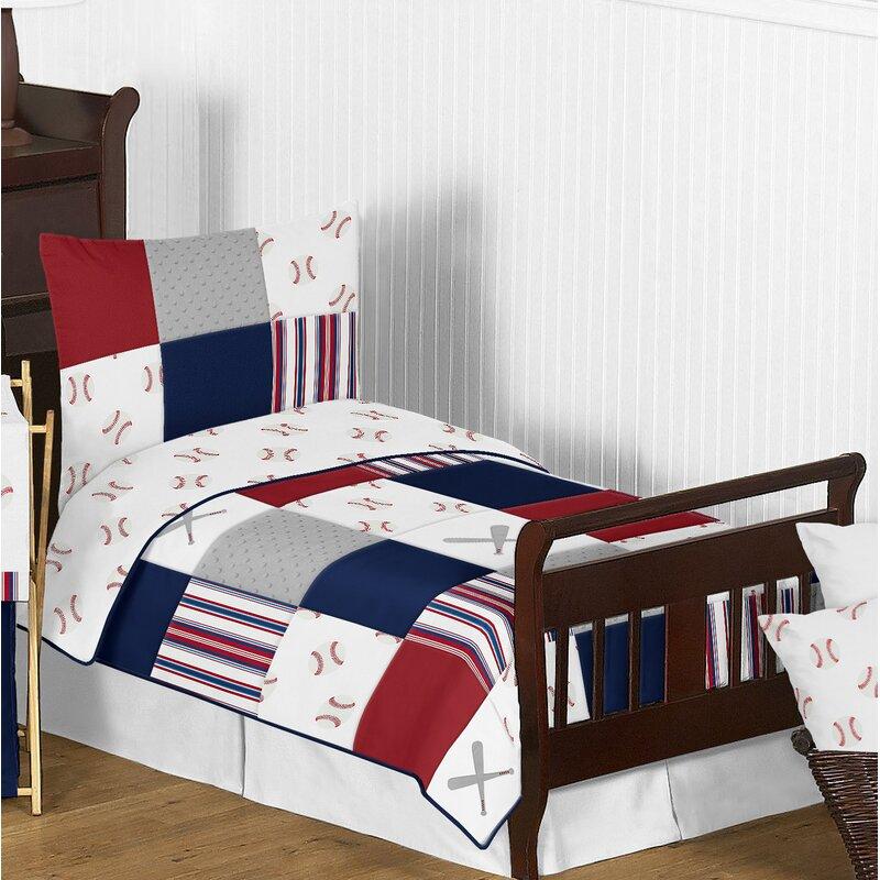 Sweet Jojo Designs Baseball Patch 5 Piece Toddler Bedding Set