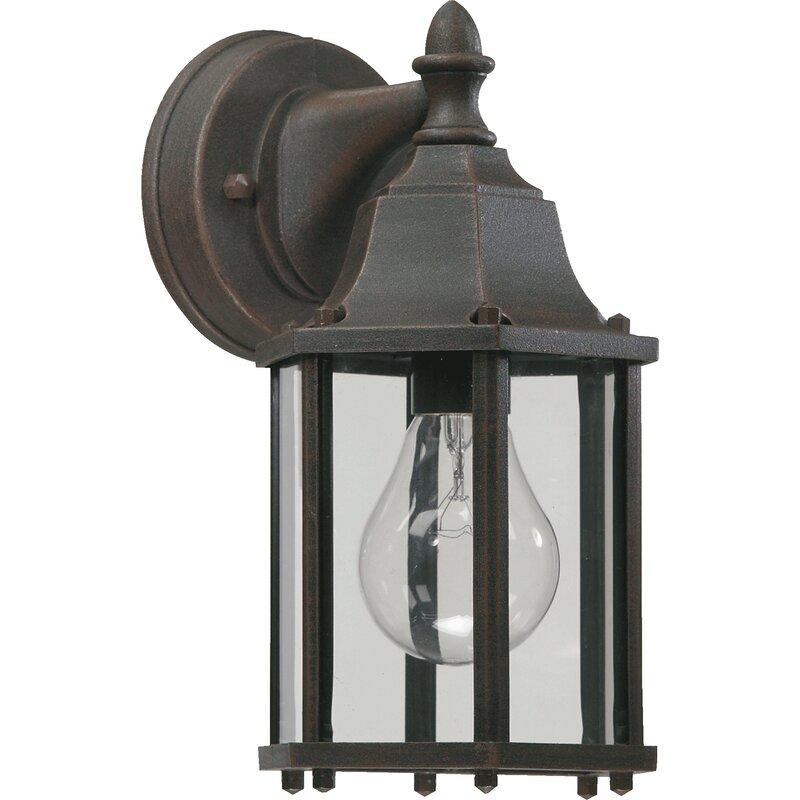 Beachcrest Home Mehar 1 Bulb Outdoor Wall Lantern Wayfair