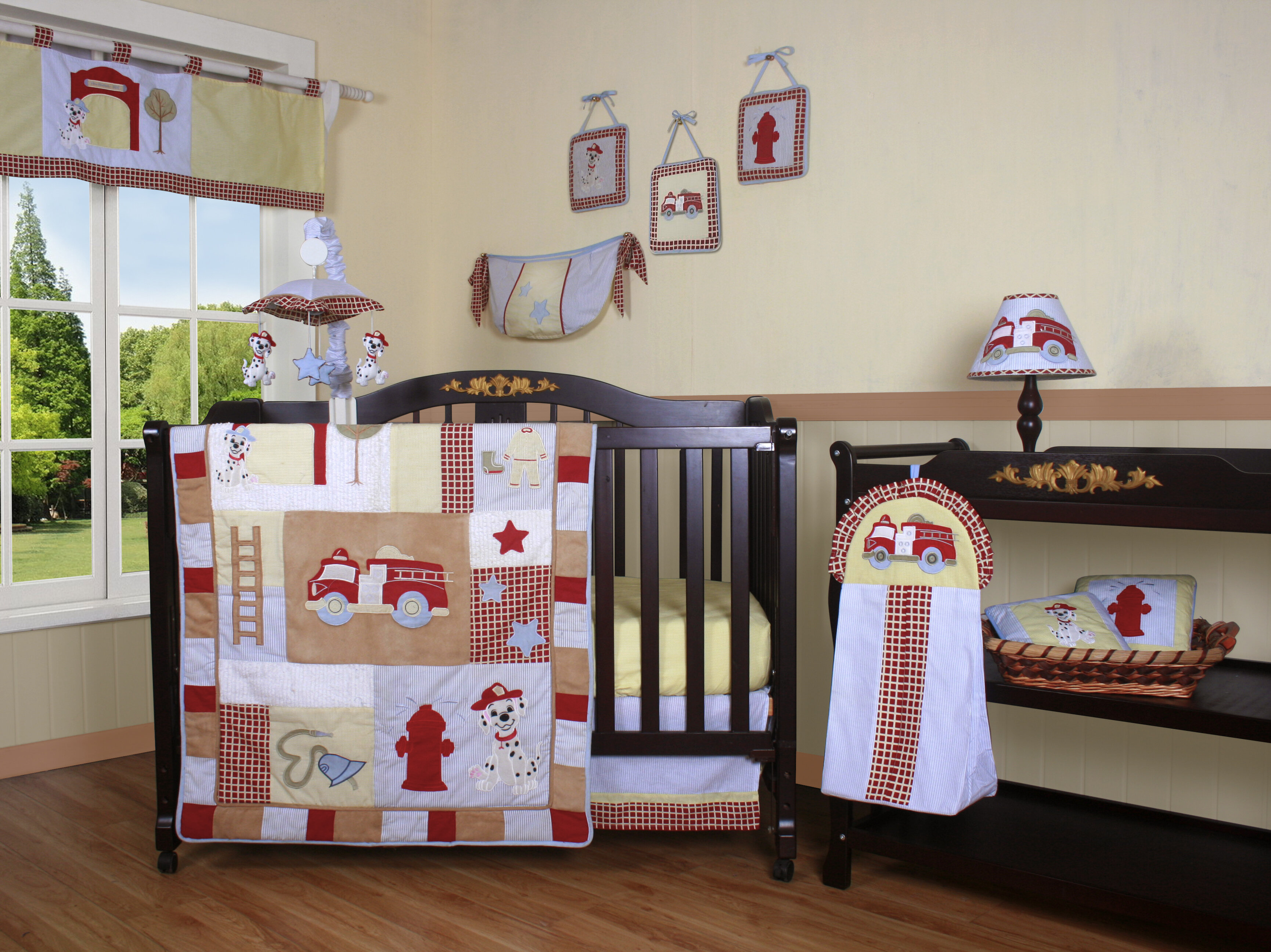 Fire Truck 12 Piece Crib Bedding Set