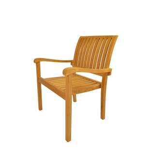 Aspen Stacking Teak Patio Dining Chair (Set of 4)