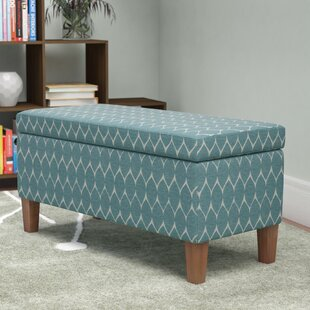 Highland Textured Upholstered Storage Bench