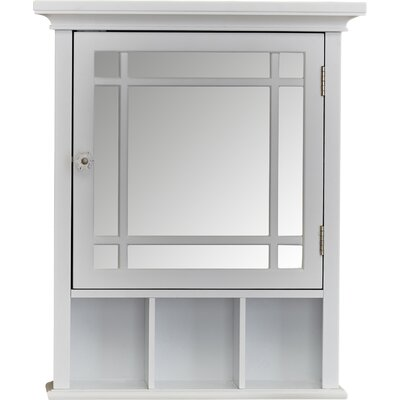 Andover Mills Taryn 20 x 24 Surface Mount Framed Medicine Cabinet with 1 Adjustable Shelf Finish: White