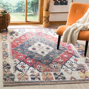 Griffeth Rust/Beige Indoor/Outdoor Area Rug