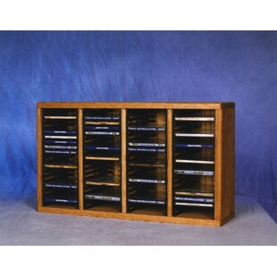 400 Series 80 CD Multimedia Tabletop Storage Rack by Wood Shed Discount