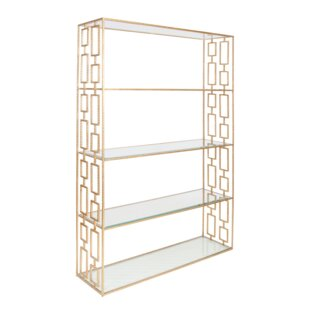 Worlds Away Hammered Etagere Bookcase