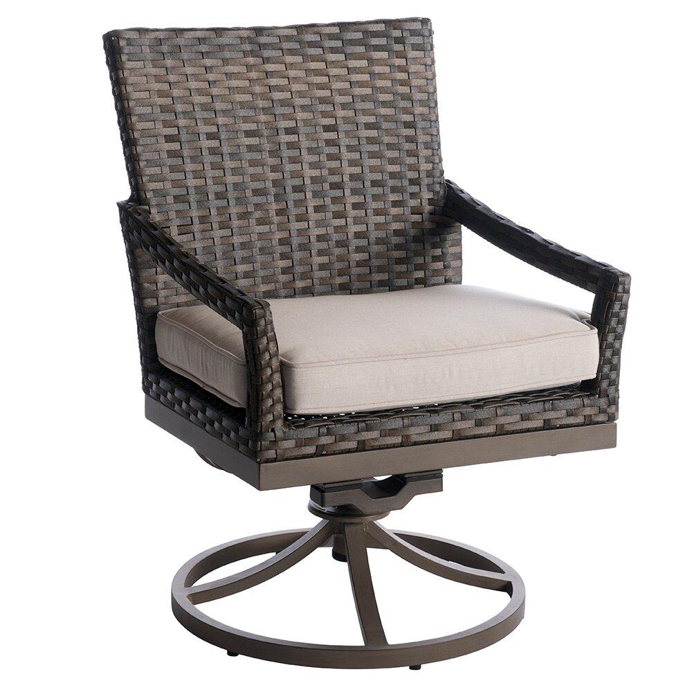 Surprising Eibhlin Swivel Patio Dining Chair With Cushion Creativecarmelina Interior Chair Design Creativecarmelinacom