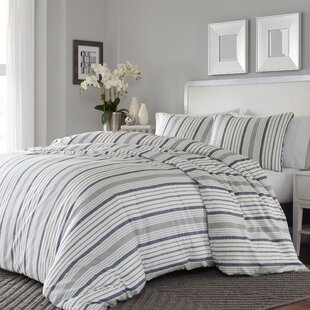 Dounia 3 Piece Reversible Duvet Cover Set