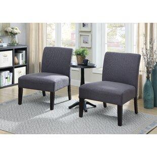 Ebern Designs Gerner 3 Piece Slipper Chair Set