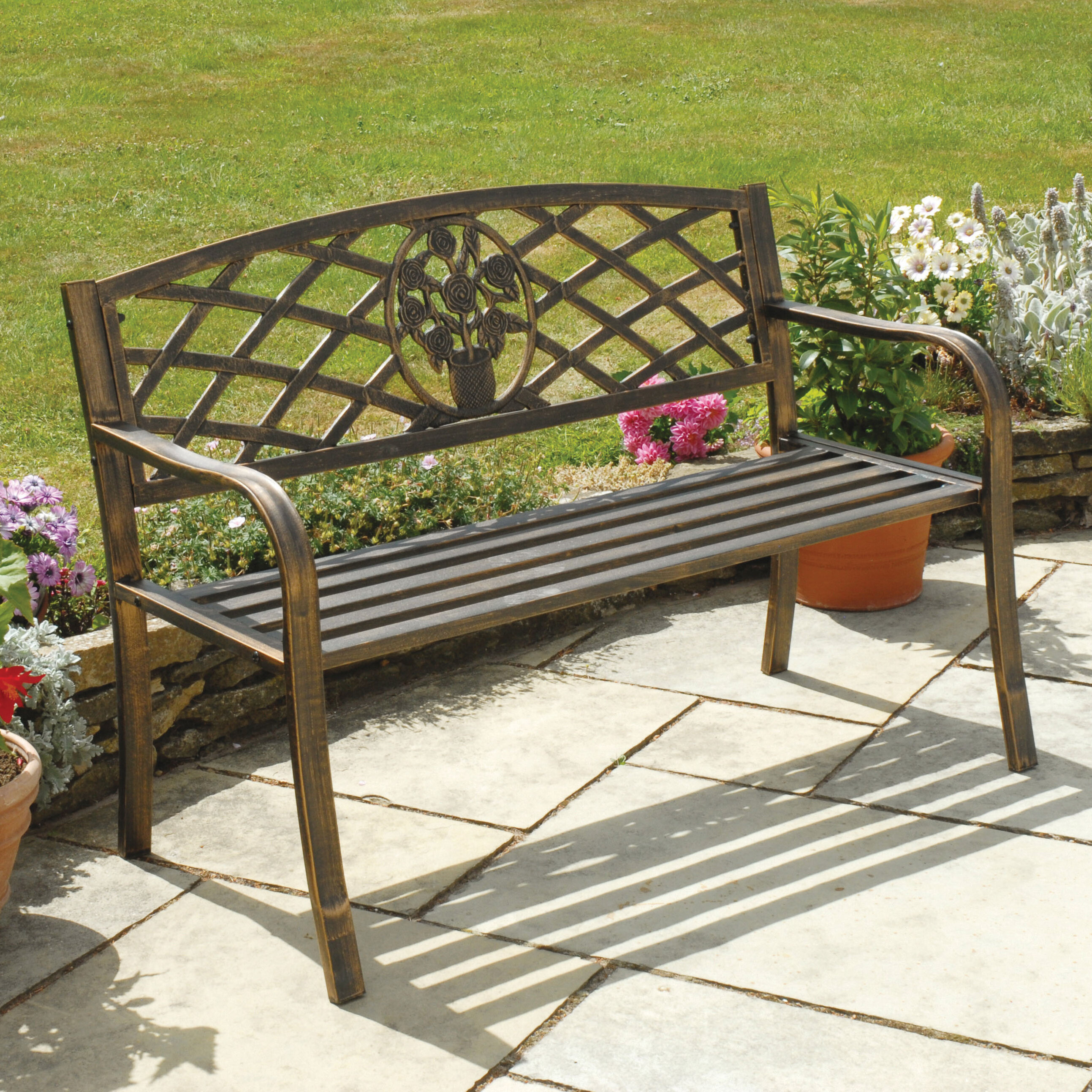 bench detail heather radiant product grey kuo kathy steel home regency gretta
