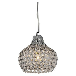 Warehouse of Tiffany Daniella 1-Light Crystal Pendant
