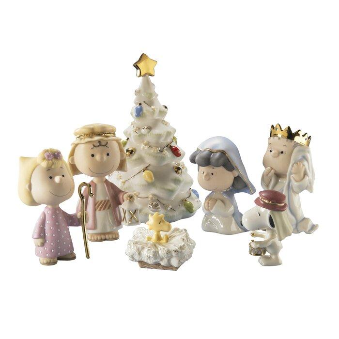 Lenox Christmas.Peanuts The Christmas Pageant Figurine Set By Lenox