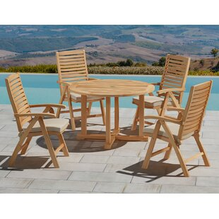 Dutton 5 Piece Teak Dining Set with Cushions