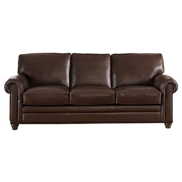 Westland And Birch Coventry Top Grain Leather Sofa & Reviews | Wayfair