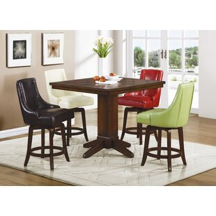 Cajun 5 Piece Pub Table Set Red Barrel Studio
