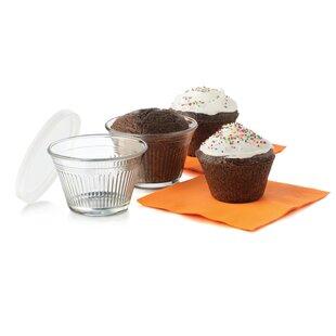 Just Baking Round Cupcake Baking Dish Set with Lids (Set of 12)