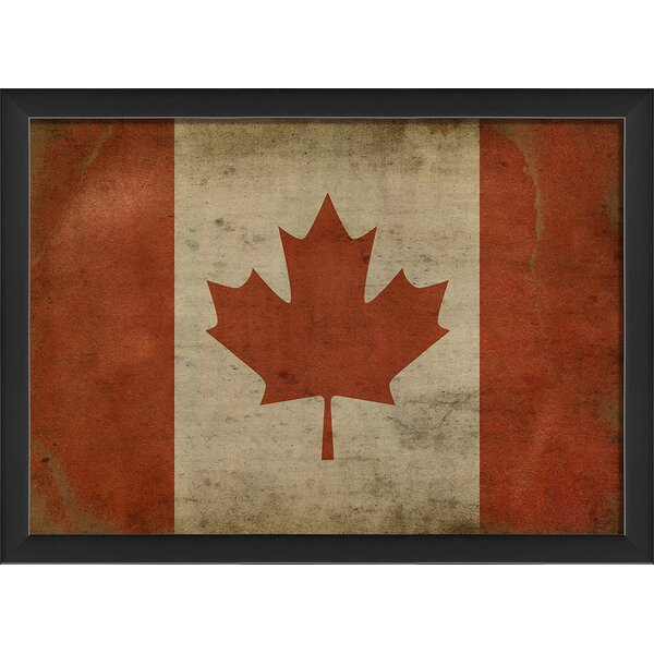 The Artwork Factory Canadian Flag Iii Framed Graphic Art