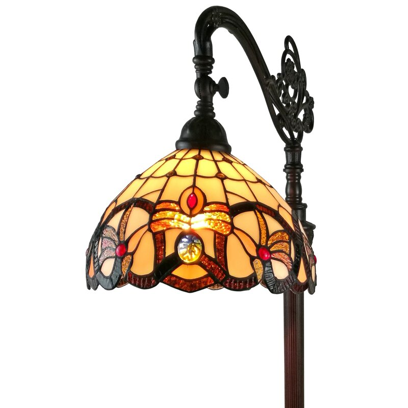 Amoralighting tiffany style 62 arched floor lamp reviews wayfair tiffany style 62 arched floor lamp mozeypictures Image collections