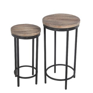 Monette Reclaimed Wood 2 Piece End Table