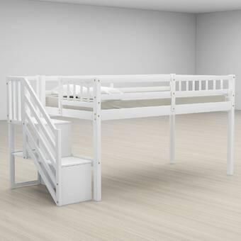 Isabelle Max Biseye Twin Low Loft Bed Wayfair