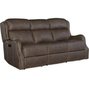 Sawyer Leather Reclining Sofa By Hooker Furniture