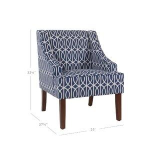 Affordable Price Adair Swoop Armchair by Ebern Designs