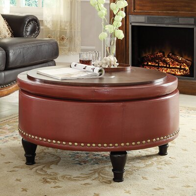 Tremendous Three Posts Manford Storage Ottoman Upholstery Color Crimson Red Cjindustries Chair Design For Home Cjindustriesco