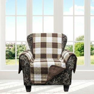 Plaid Box Cushion Armchair Slipcover