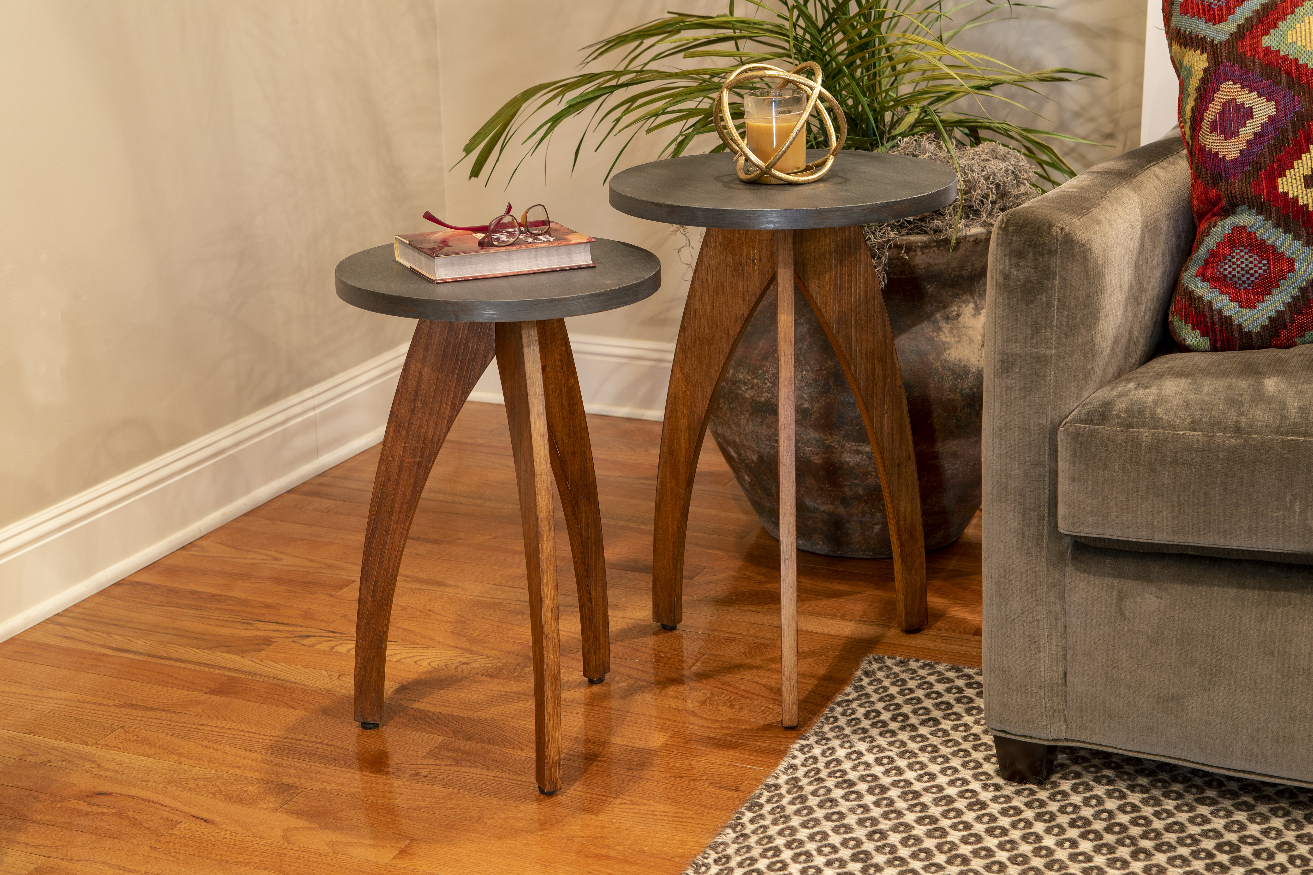 Brayden Studio Erna 3 Legs End Table Set Reviews Wayfair