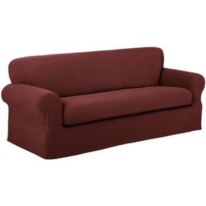 Reeves Stretch Box Cushion Sofa Slipcover by Maytex