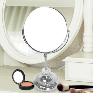 Check Prices Dingman Round Double Sided Magnifying Standing Makeup/Shaving Mirror ByCharlton Home